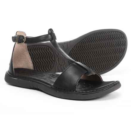 Bogs Footwear Amma T-Strap Sandals - Leather (For Women) in Black - Closeouts