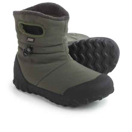 Bogs Footwear B-Moc Puff Snow Boots - Waterproof, Insulated (For Big Kids) in Moss - Closeouts