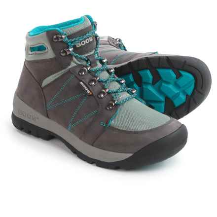 Bogs Footwear Bend Mid Hiking Boots - Waterproof (For Women) in Pewter - Closeouts