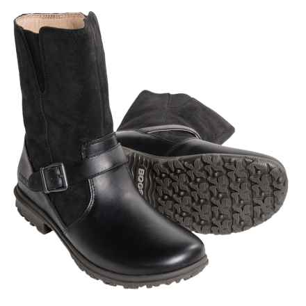 Bogs Footwear Bobby Mid Boots - Waterproof Leather (For Women) in Black - Closeouts