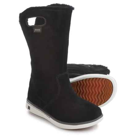 Bogs Footwear Boga Suede Boots - Waterproof (For Little Kids) in Black - Closeouts