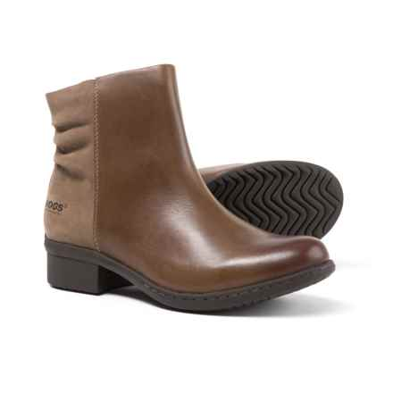 Bogs Footwear Carly Low Leather Boots - Waterproof (For Women) in Hazlenut - Closeouts