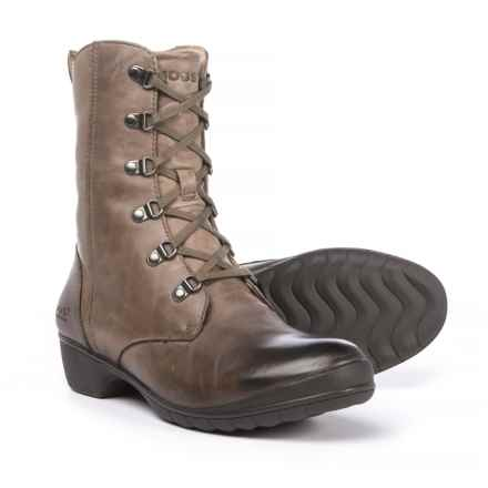 Bogs Footwear Carrie Lace Mid Boots - Waterproof, Leather (For Women) in Taupe Multi - Closeouts