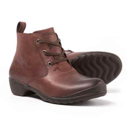Bogs Footwear Carrie Leather Chukka Boots - Waterproof (For Women) in Brandy - Closeouts
