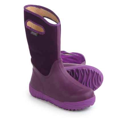 Bogs Footwear City Farmer Snow Boots - Waterproof (For Big Kids) in Purple - Closeouts