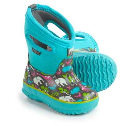 Bogs Footwear Classic Animals Insulated Rain Boots - Waterproof (For Toddlers) in Aqua Multi - Closeouts