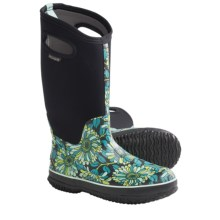Bogs Footwear Classic High Mumsie Rain Boots - Rubber (For Women) in Black - Closeouts