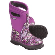Bogs Footwear Classic High Tuscany Rain Boots - Waterproof (For Kid and Youth Girls) in Violet - Closeouts