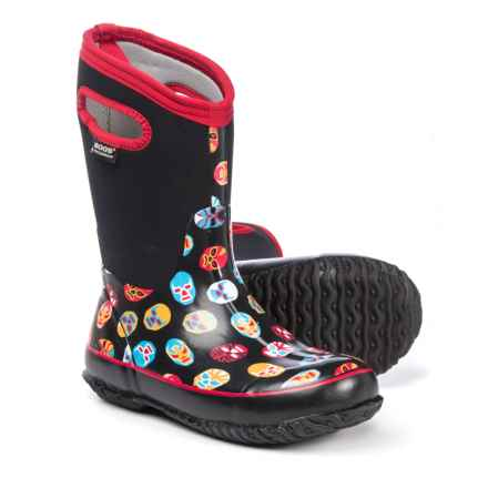 Bogs Footwear Classic Mask Neo-Tech® Rain Boots - Waterproof, Insulated (For Boys) in Black Multi - Closeouts