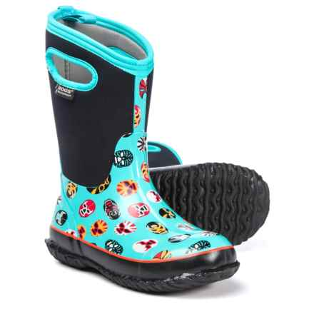 Bogs Footwear Classic Mask Neo-Tech® Rain Boots - Waterproof, Insulated (For Boys) in Light Blue Multi - Closeouts
