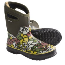 Bogs Footwear Classic Mid Vintage Rain Boots - Waterproof (For Women) in Olive - Closeouts