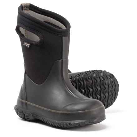 Bogs Footwear Classic Neoprene Short Boots - Waterproof, Insulated (For Boys) in Black - Closeouts