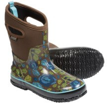 Bogs Footwear Classic Rose Garden Mid Boots - Waterproof (For Women) in Brown - Closeouts