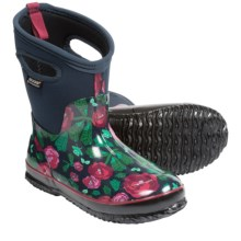 Bogs Footwear Classic Rose Garden Mid Boots - Waterproof (For Women) in Dark Blue - Closeouts