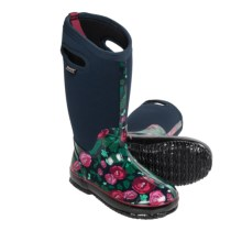 Bogs Footwear Classic Rose Garden Tall Boots - Waterproof (For Women) in Dark Blue - Closeouts