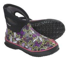 Bogs Footwear Classic Short May Flowers Rain Boots - Waterproof (For Women) in Black - Closeouts