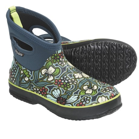Bogs Footwear Classic Short May Flowers Rain Boots - Waterproof (For Women) in Blue