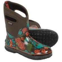 Bogs Footwear Classic Winter Blooms Boots - Waterproof, Insulated (For Women) in Chocolate Multi - Closeouts