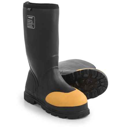 Bogs Footwear Forge STMG Lite Work Boots - Waterproof, Steel Toe (For Men) in Black - Closeouts
