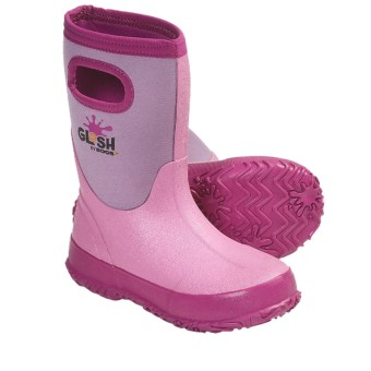 Bogs Footwear Glosh Rain Boots - Waterproof (For Kid and Youth Girls) in Pink