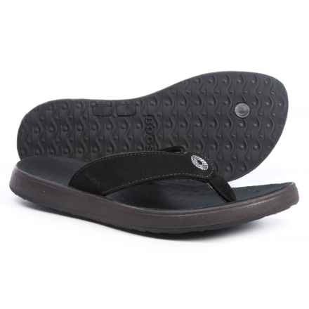 Bogs Footwear Hudson Flip-Flops - Nubuck (For Women) in Black - Closeouts