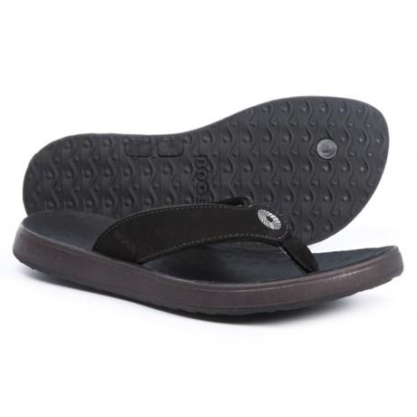 Bogs Footwear Hudson Flip-Flops - Nubuck (For Women) in Black