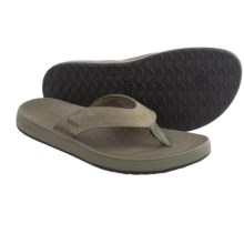 Bogs Footwear Hudson Leather Flip-Flops (For Men) in Cargo - Closeouts