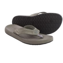 Bogs Footwear Hudson Leather Flip-Flops (For Men) in Charcoal - Closeouts