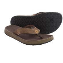 Bogs Footwear Hudson Leather Flip-Flops (For Men) in Chocolate - Closeouts