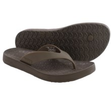 Bogs Footwear Hudson Rubber Flip-Flops (For Men) in Coffee - Closeouts
