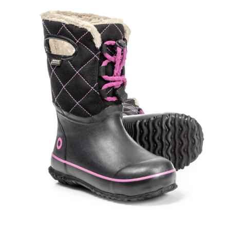 Bogs Footwear Juno Pac Boots - Waterproof (For Girls) in Black Multi - Closeouts