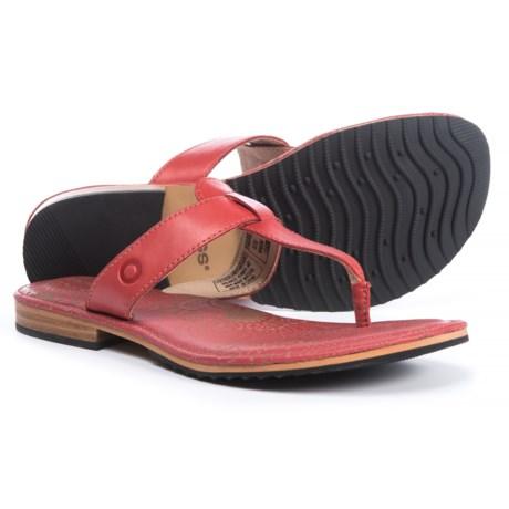 Bogs Footwear Nashville Flip Sandals - Leather (For Women) in Desert Rose