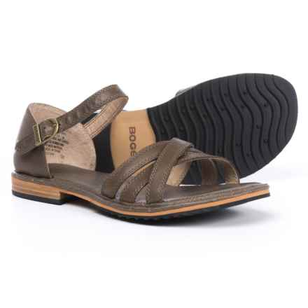 Bogs Footwear Nashville Sandals - Leather (For Women) in Cocoa - Closeouts
