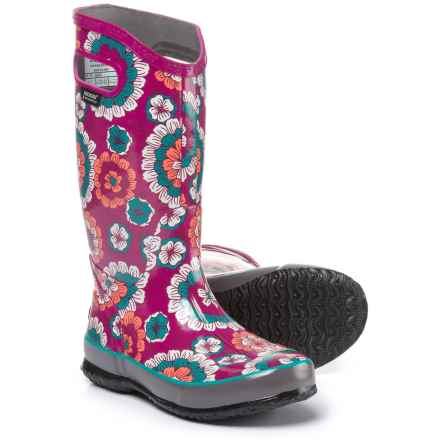 Bogs Footwear Pansies Rain Boots - Waterproof (For Women) in Berry Multi - Closeouts