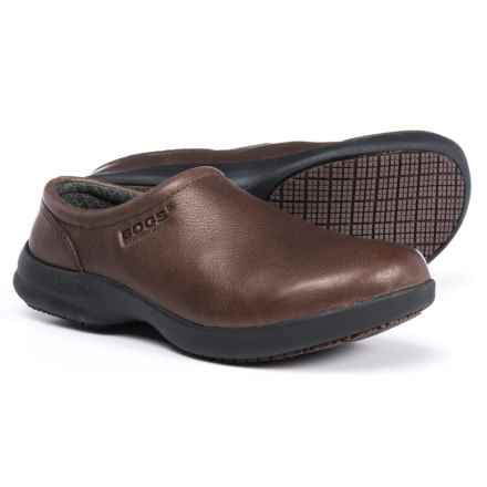Bogs Footwear Ramsey Leather Clogs - Slip-Ons (For Women) in Mocha - Closeouts
