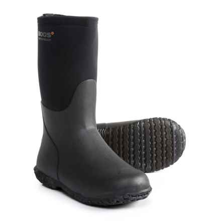 Bogs Footwear Range Rain Boots - Waterproof (For Boys) in Black - Closeouts