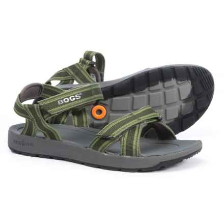 Bogs Footwear Rio Stripe Sport Sandals (For Boys) in Green Multi - Closeouts