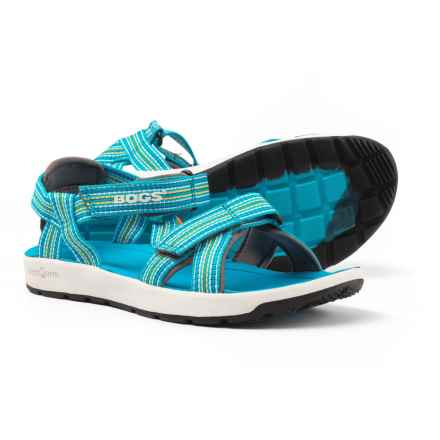 Bogs Footwear Rio Stripe Sport Sandals (For Girls) in Light Blue Multi - Closeouts