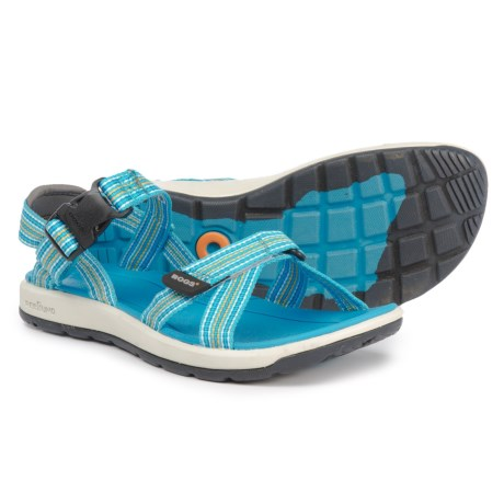 Bogs Footwear Rio Stripes Sport Sandals (For Women) in Skyblue Multi