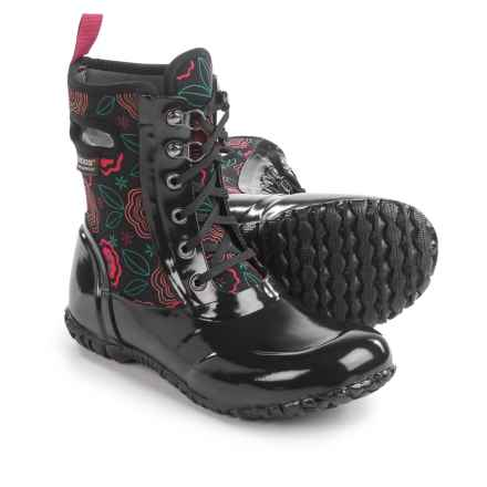 Bogs Footwear Sidney Lace Posey Rain Boots - Waterproof, Insulated (For Big Girls) in Black Multi - Closeouts