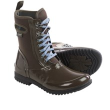 Bogs Footwear Sidney Lace Solid Boots - Waterproof (For Women) in Brown - Closeouts