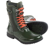Bogs Footwear Sidney Lace Solid Boots - Waterproof (For Women) in Dark Green - Closeouts