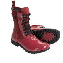 Bogs Footwear Sidney Lace Solid Boots - Waterproof (For Women) in Red - Closeouts