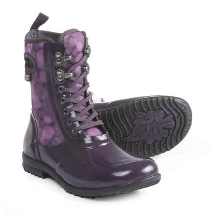 Bogs Footwear Sidney Printed Lace Rain Boots - Waterproof (For Women) in Eggplant Multi - Closeouts