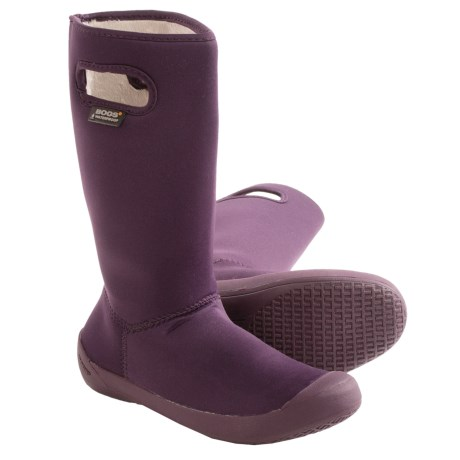Bogs Footwear Summit Rain Boots - Waterproof (For Little and Big Kids) in Purple