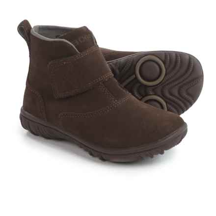 Bogs Footwear Wall Ball Boots - Suede (For Little Girls) in Chocolate - Closeouts