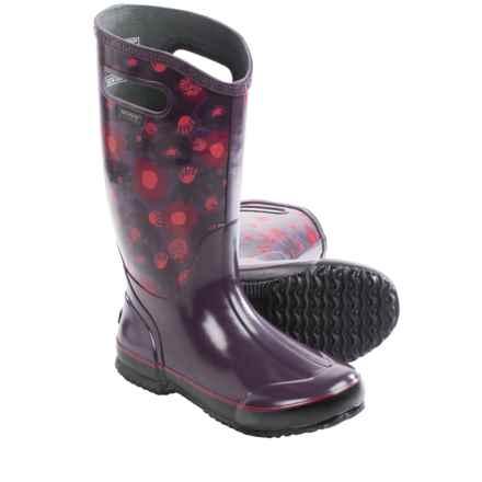 Bogs Footwear Watercolor Rain Boots - Waterproof (For Women) in Plum Multi - Closeouts