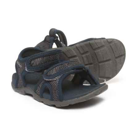Bogs Footwear Whitefish Shatter Sport Sandals - Waterproof (For Boys) in Navy Multi - Closeouts