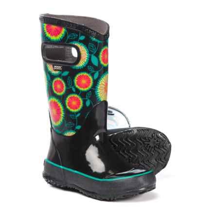 Bogs Footwear Wildflower Rain Boots - Waterproof (For Girls) in Black Multi - Closeouts