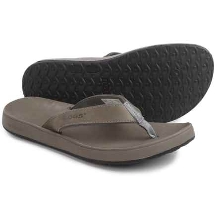 Bogs Hudson II Flip-Flops - Nubuck (For Men) in Charcoal - Closeouts